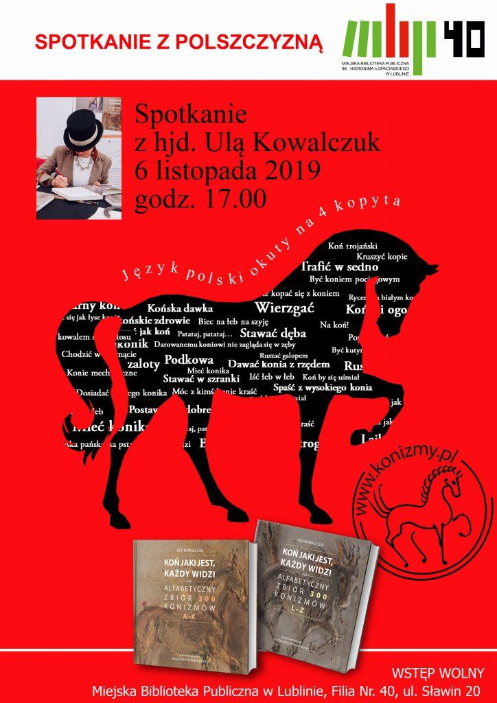 Koń jaki jest, każdy widzi – spotkanie autorskie z hjd. Urszulą Kowalczuk