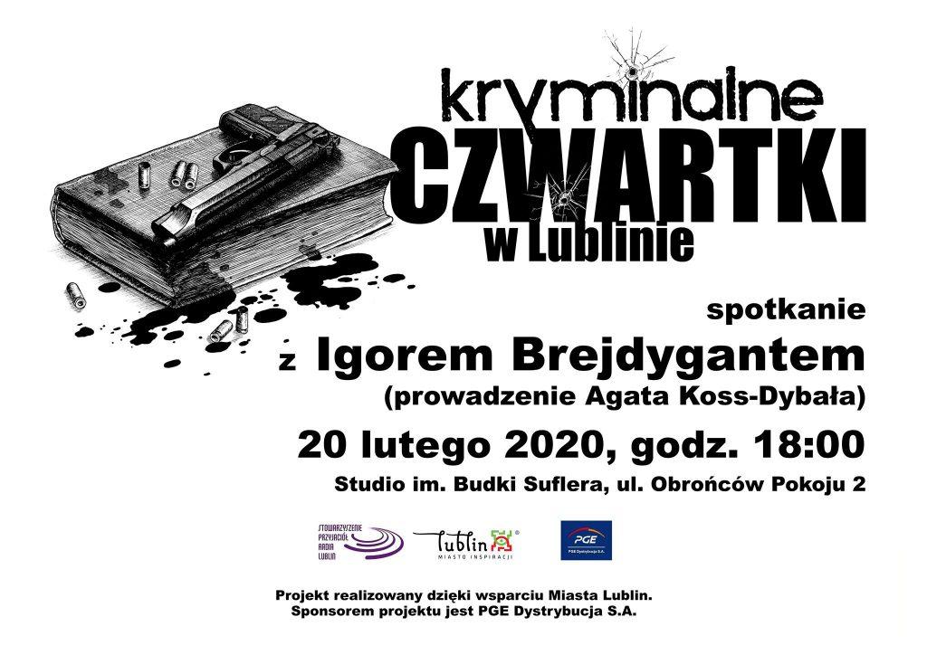 Kryminalne czwartki w Lublinie – spotkanie z Igorem Brejdygantem