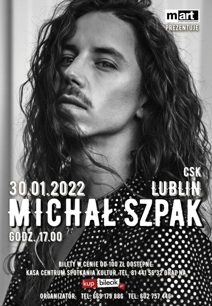 Michał Szpak w Lublinie 30.01.2022