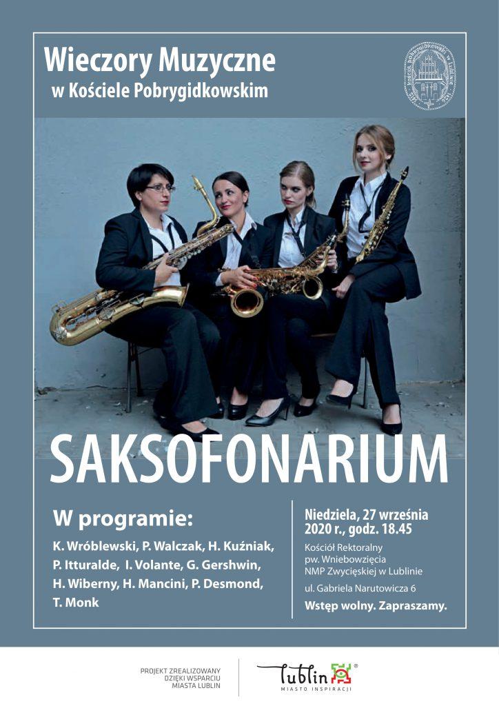 Koncert SAKSOFONARIUM – OBLICZA SAKSOFONU