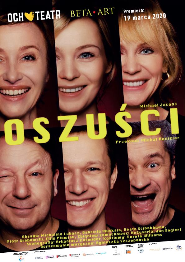 Oszuści- spektakl komediowy Och-Teatru – CSK w Lublinie przeniesiony