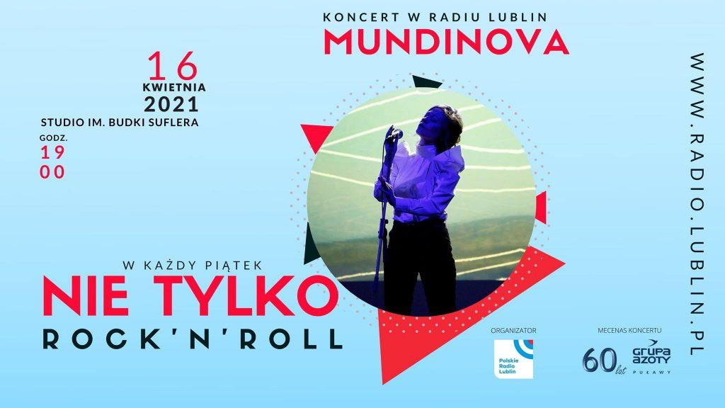 16 kwietnia, godz. 19.00 – koncert zespołu Mundinova (Nie tylko rock'n'roll)