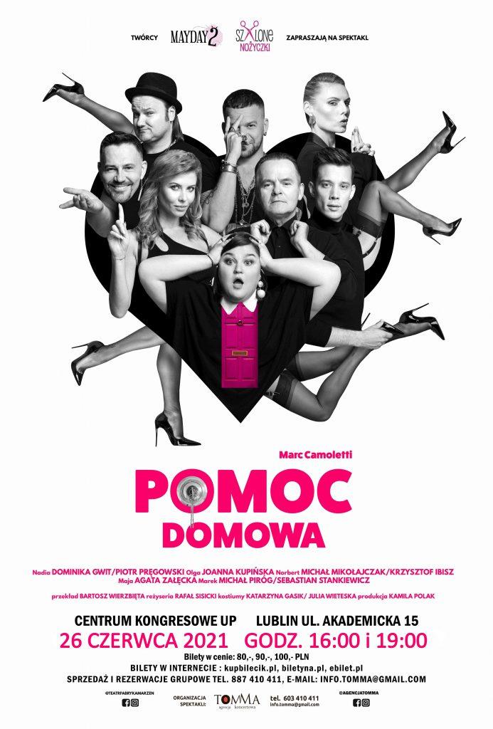 """26 CZERWCA 2021 spektakl """"Pomoc Domowa""""."""