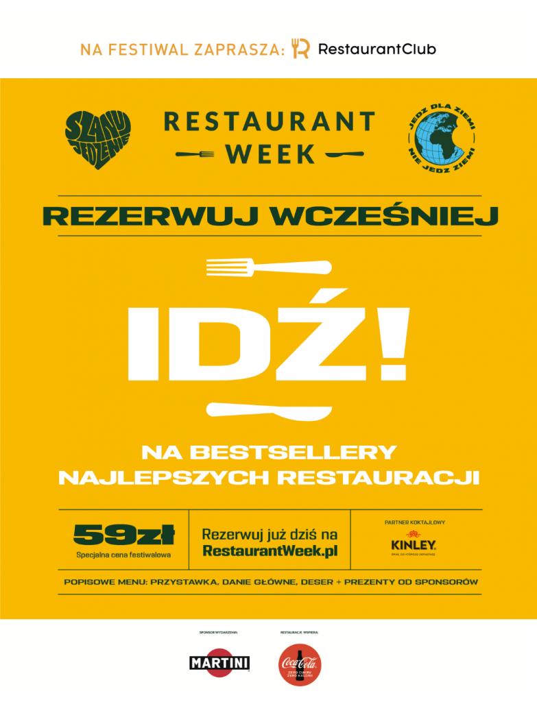 Powraca Restaurant Week! 9-27.06 #IDŹ! i wesprzyj otwarcie restauracji!