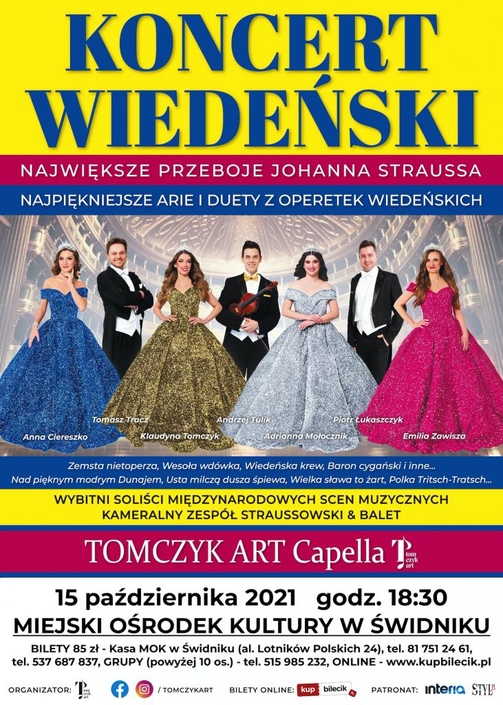 Koncert Wiedeński w Miejskim Ośrodku Kultury w Świdniku
